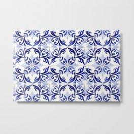 Azulejo V - Portuguese hand painted tiles Metal Print