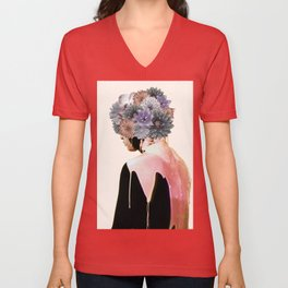 Flowers Bloom, Mind Drips Out Unisex V-Neck
