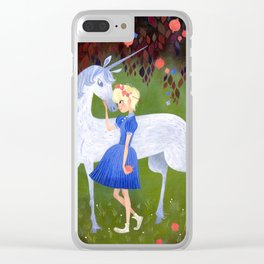 In the Pomegranate Forest Clear iPhone Case