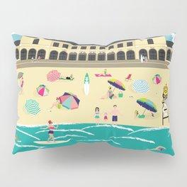 Bondi Beach Vintage Style Art Print Pillow Sham