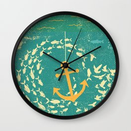 GOLDEN ANCHOR Wall Clock