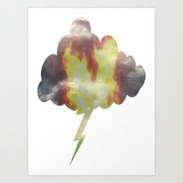 Burning Lightning Cloud Art Print