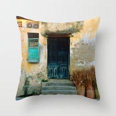 VIETNAMESE FACADE - HOI AN Throw Pillow