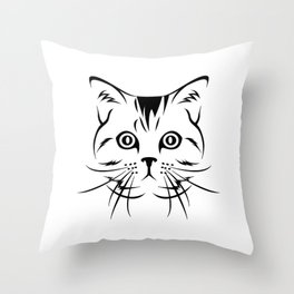 38 Cat Art Illustration Throw Pillow