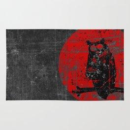 Nocturnal - Grunge Owl Rug