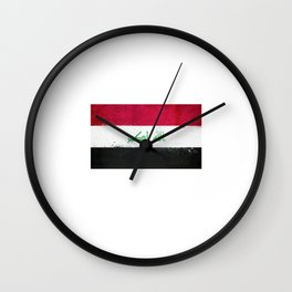 Iraq Flag design | Iraqi design Wall Clock