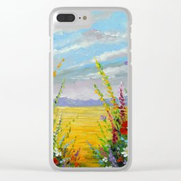 Summer flowers in the field Clear iPhone Case