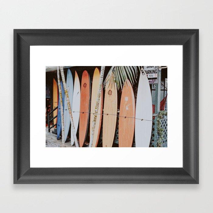 lets surf ii Gerahmter Kunstdruck