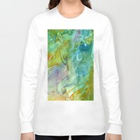 stained glass Long Sleeve T-shirts featuring Stained Glass by Rosie Brown