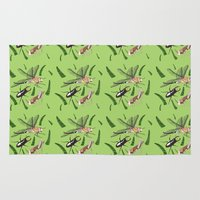 insects Area & Throw Rugs featuring Insects by The Bird Draws