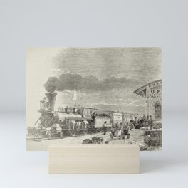 Union Pacific Train Mini Art Print