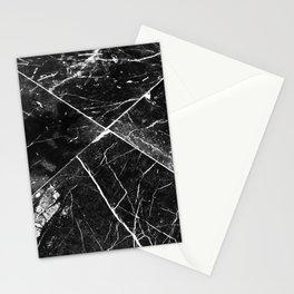 Black Granite Tiles Stationery Cards