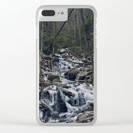 Frozen Stream From Mountain High Clear iPhone Case