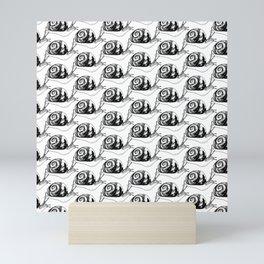 Snails Drawing/Pattern Mini Art Print