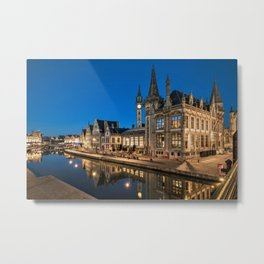 Twilight on the Ghent–Terneuzen Canal, Belgium Photographic Metal Print