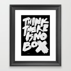 NOBOX Framed Art Print