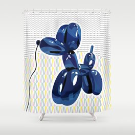Minimal balloon dog Shower Curtain