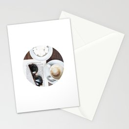 #114 — Coffee and a Found Page — Paris Stationery Cards
