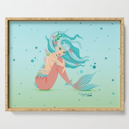 Monster Mermaid Pin-Up Serving Tray