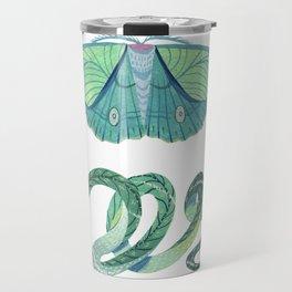 Moth and Snake Travel Mug