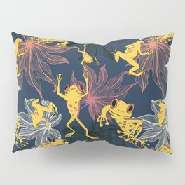 Happy Yellow Frogs Pillow Sham