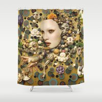 surrealism Shower Curtains featuring pop surrealism, fine art by store2u
