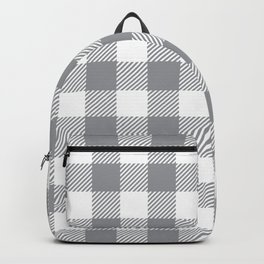 Buffalo Plaid - Grey & White Backpack