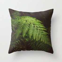 Australian Coast Fern Throw Pillow