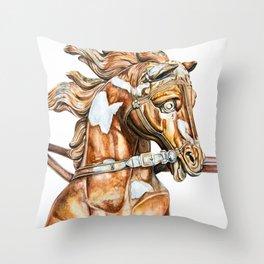 Apollo Rising Horse Throw Pillow