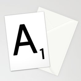Letter A - Custom Scrabble Letter Wall Art - Scrabble A Stationery Cards