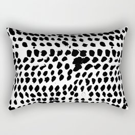 Flowing dots 02 Rectangular Pillow