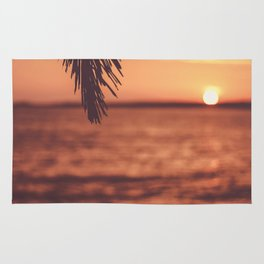 Warm Tropical Summer Sunset (Color) Rug