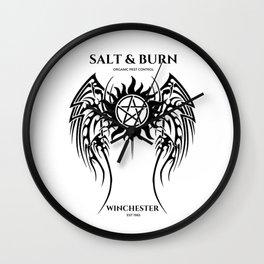 Salt & Burn Wall Clock