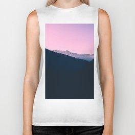 Pink Sunset Rolling Hill Silhouette Landscape Photo Biker Tank