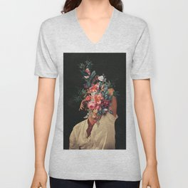 Roses Bloomed every time I Thought of You Unisex V-Neck