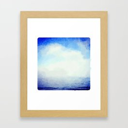 Clouds over the Ocean Framed Art Print