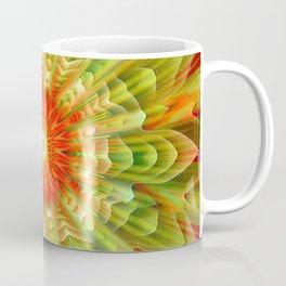 Abstract yellow orange luxury Mandala Coffee Mug