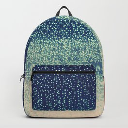downtown Los Angeles at night photograph. Starry Night Backpack