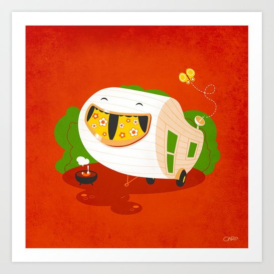 Happy Camper Art Print