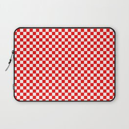 Large Australian Flag Red and White Check Checkerboard Laptop Sleeve
