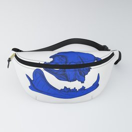 Cat Skull 9 (royal blue) Fanny Pack