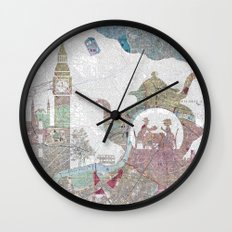 4 o'clock tea London Map Wall Clock
