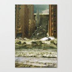 Water vs City Canvas Print