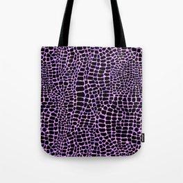 Neon crocodile/alligator skin Tote Bag