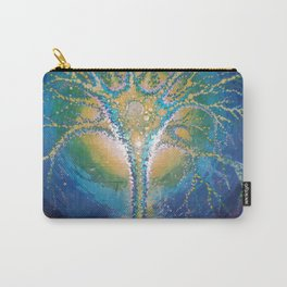 neural tree painted on glass - neuron pictura pe sticla Carry-All Pouch