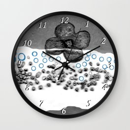 Flower in white Wall Clock