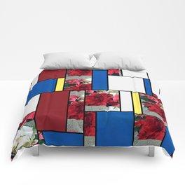 Mixed color Poinsettias 3 Art Rectangles 4 Comforters