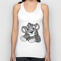 simba Tank Tops featuring Zentangle Simba by ElFineLines