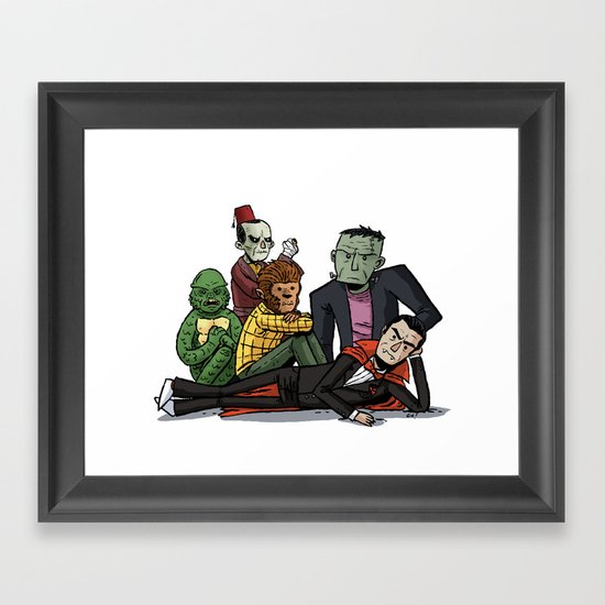 The Universal Monster Club Framed Art Print