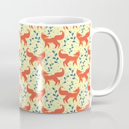 Fox in The Forest Vector Seamless Pattern Coffee Mug